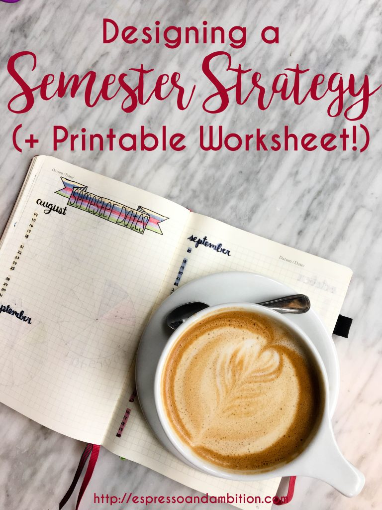 Designing a Semester Strategy - Espresso and Ambition