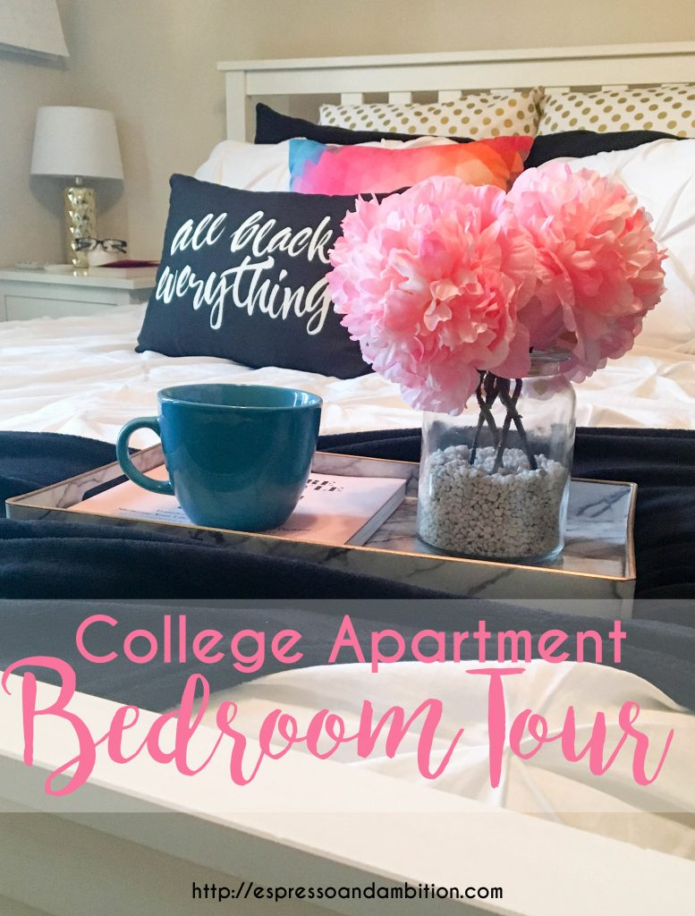 College Apartment Bedroom Tour - Espresso and Ambition