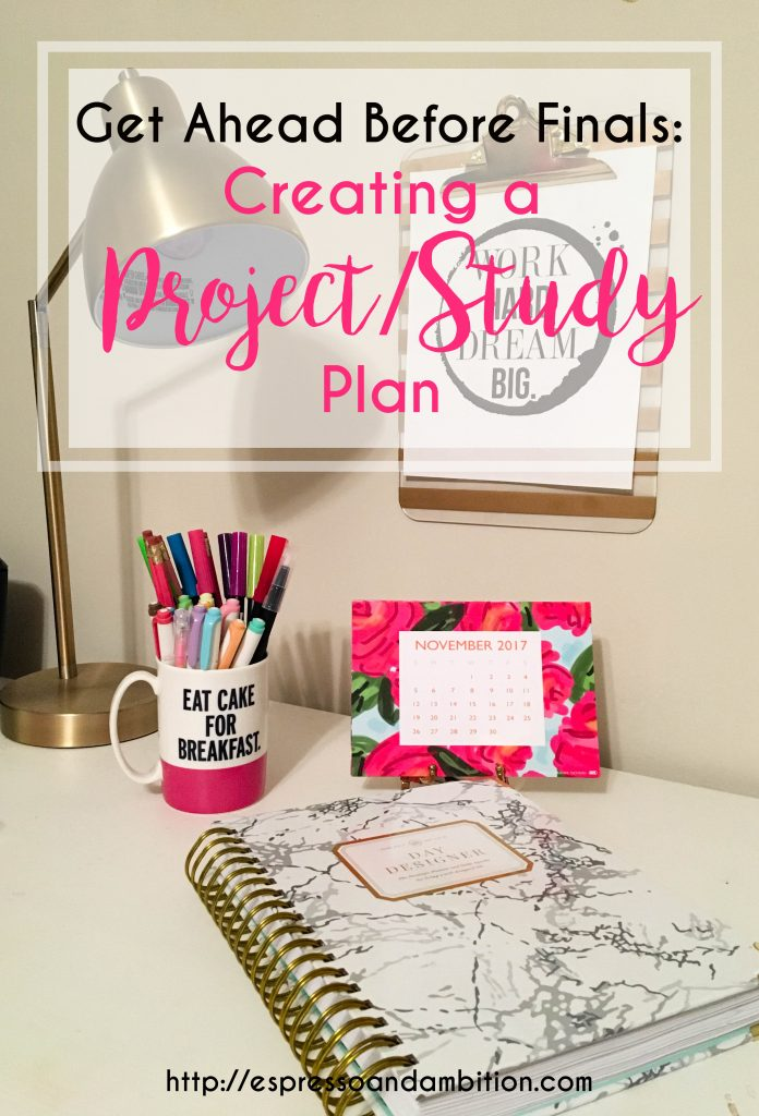 Creating a Project/Study Plan - Espresso and Ambition