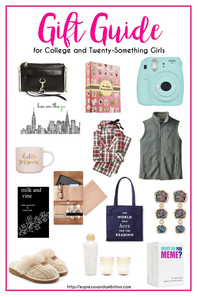 Gift Guide for College and Twenty Something Girls - Espresso and Ambition