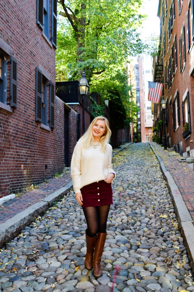 Skirts and Sweaters on Acorn Street - Espresso and Ambition