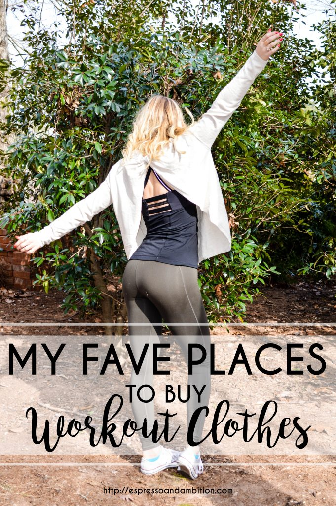 My Fave Places to Buy Workout Clothes - Espresso and Ambition