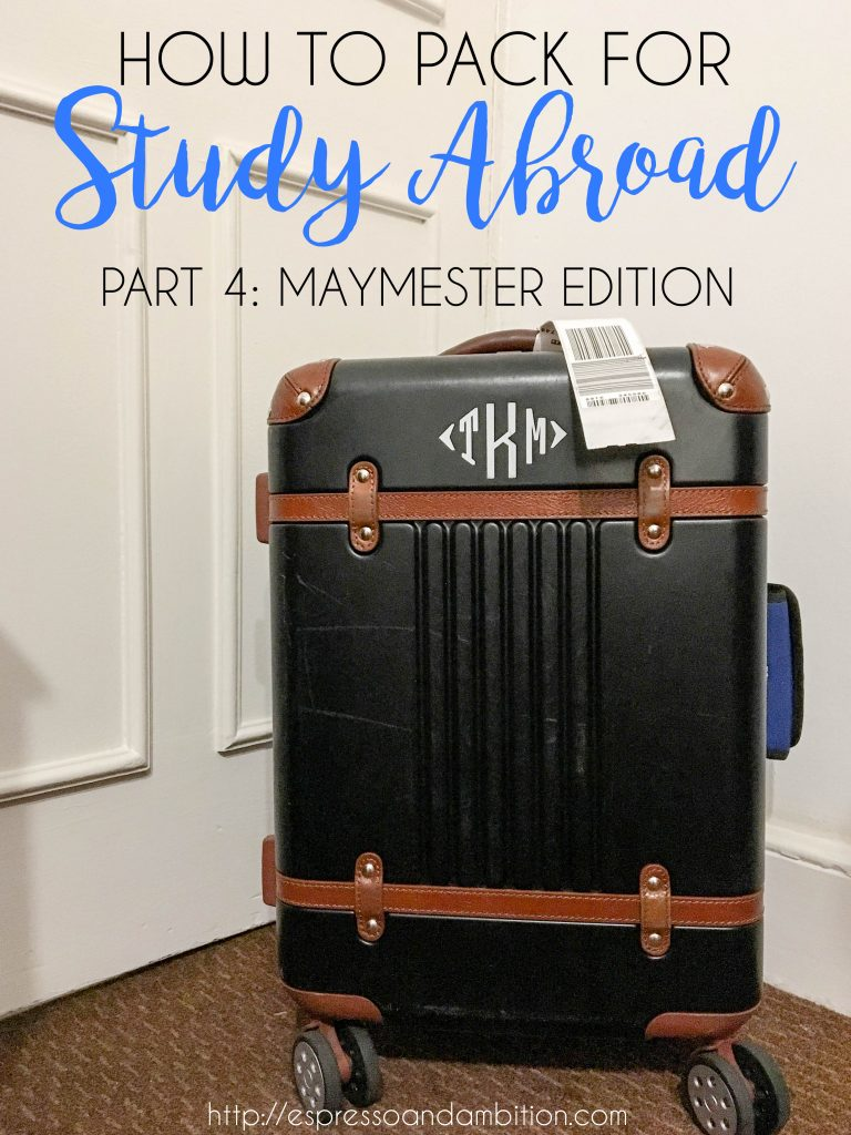 How to Pack for Study Abroad, Part 4: Maymester Edition - Espresso and Ambition