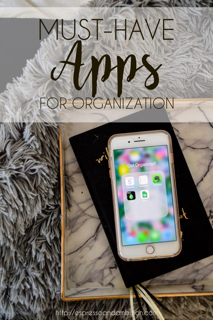 Must Have Apps for Organization - Espresso and Ambition