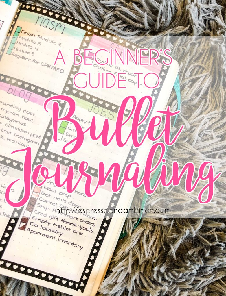 Beginner's Guide to Bullet Journaling - Espresso and Ambition