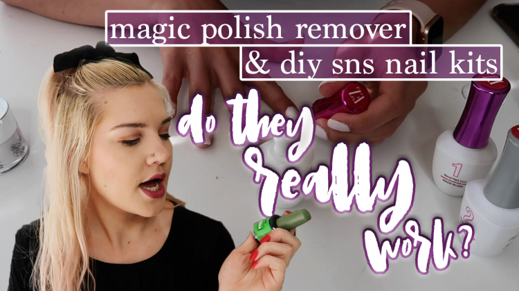 magic polish remover and at-home sns kits | do they really work?
