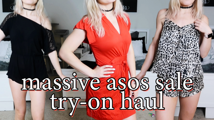 massive asos sale try-on haul