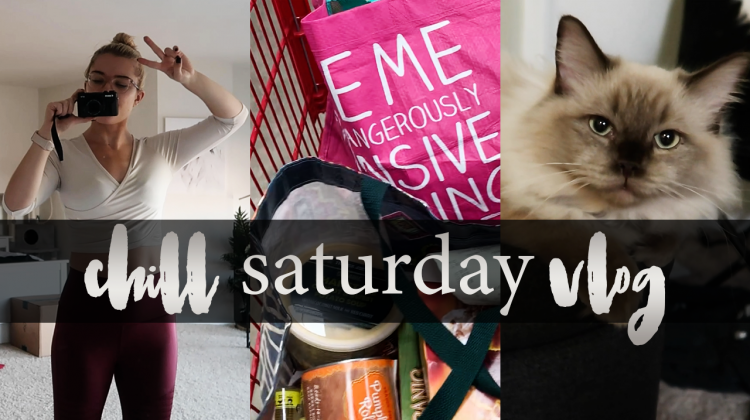 low key saturday vlog | trader joe's haul, yoga, working out