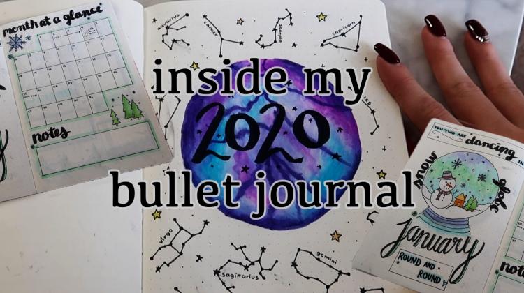 inside my 2020 bullet journal