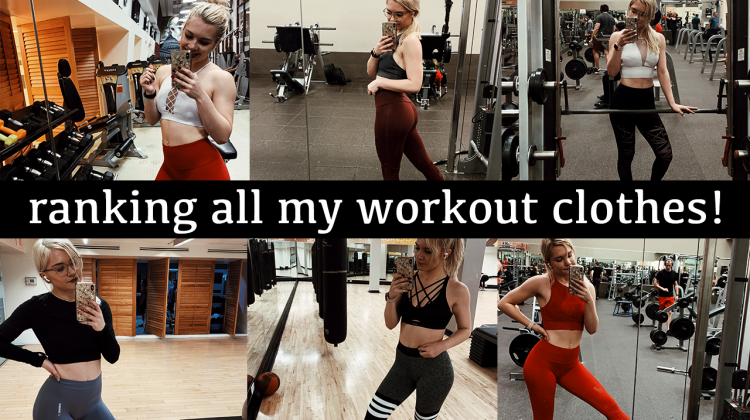 ranking all of the activewear brands in my closet! | gymshark, lulu, fabletics, and more!