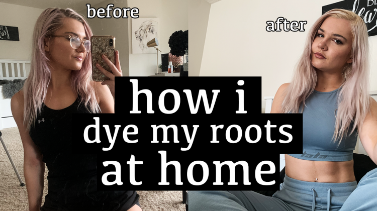 how i touch up my platinum blonde hair at home!