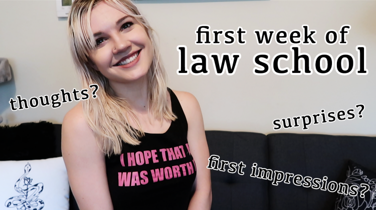 first week of law school first impressions