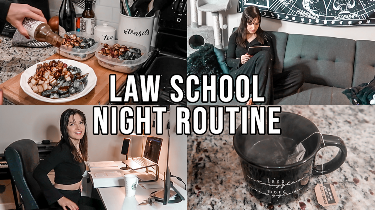 law school night routine [productive + mindful]