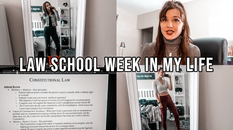 law school week in my life, 1L spring: what i wear to class, starting outlines, + being real