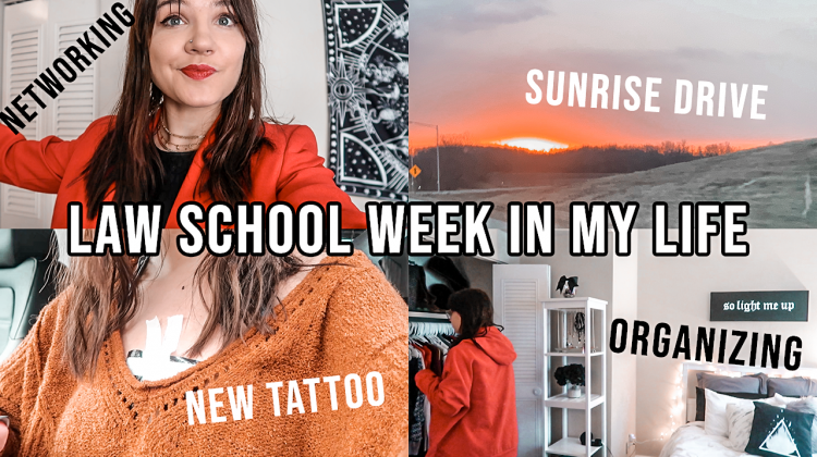 law school week in my life, 1L spring: intersession class, organizing, getting a new tattoo & laser?